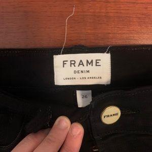 Distressed black Frame jeans!